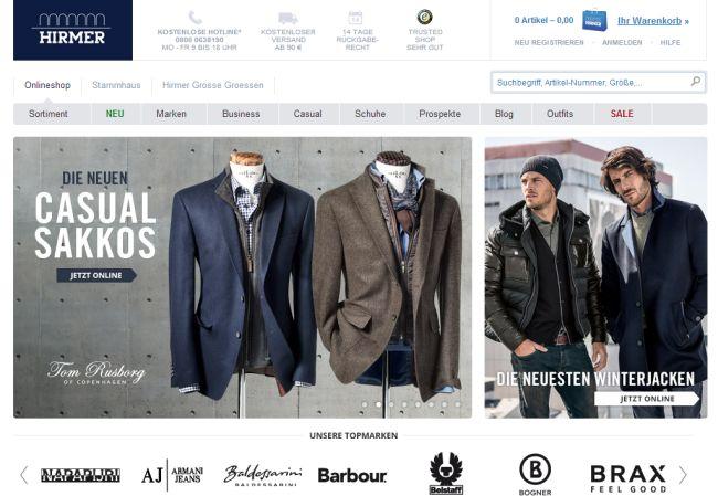 Интернет-магазин Hirmer.de