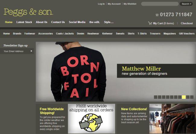 Интернет-магазин Peggsandson.com