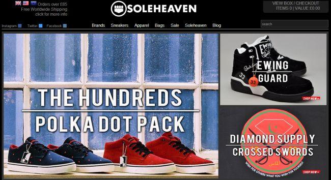 Интернет-магазин Soleheaven.com
