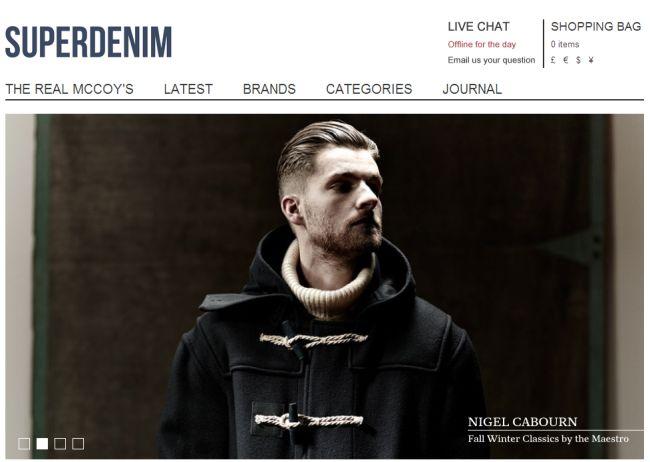 Интернет-магазин Superdenim.co.uk