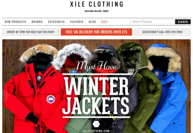 Интернет-магазин Xileclothing.com