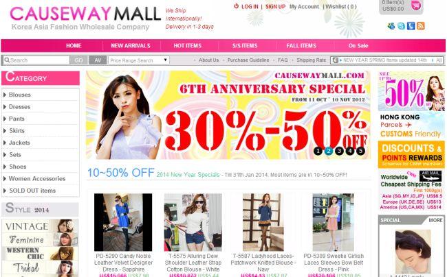Интернет-магазин Causewaymall.com