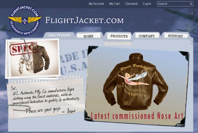 Интернет-магазин FlightJacket.com