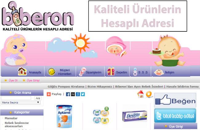 Интернет-магазин Biberon.com.tr