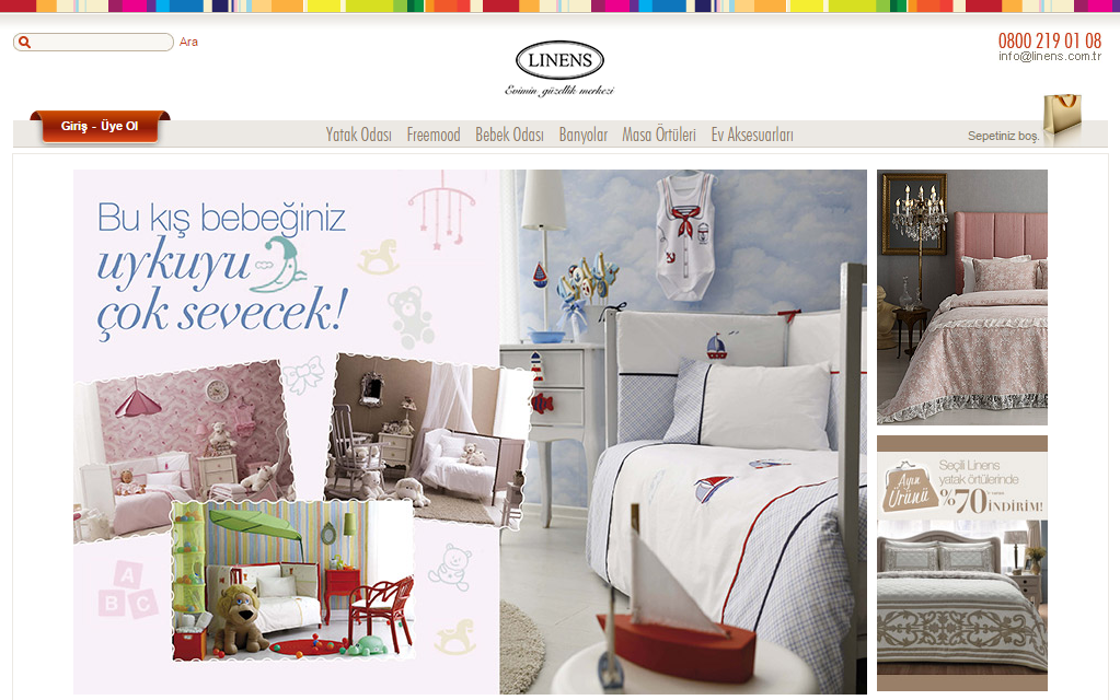 Интернет-магазин Emagaza.linens.com.tr