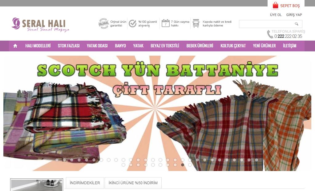 Интернет-магазин Seralhali.com