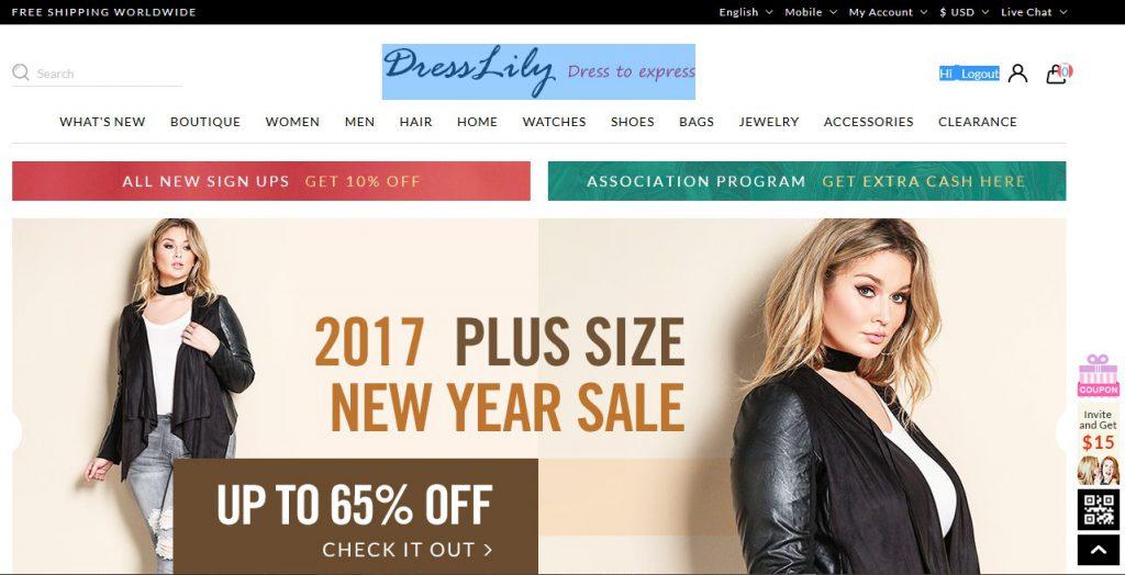 Интернет-магазин DressLily.com